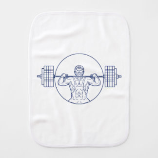 Strongman Lifting Weight Mono Line Burp Cloth