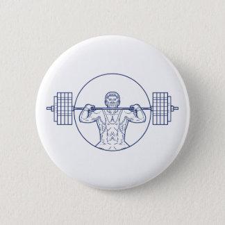 Strongman Lifting Weight Mono Line Button