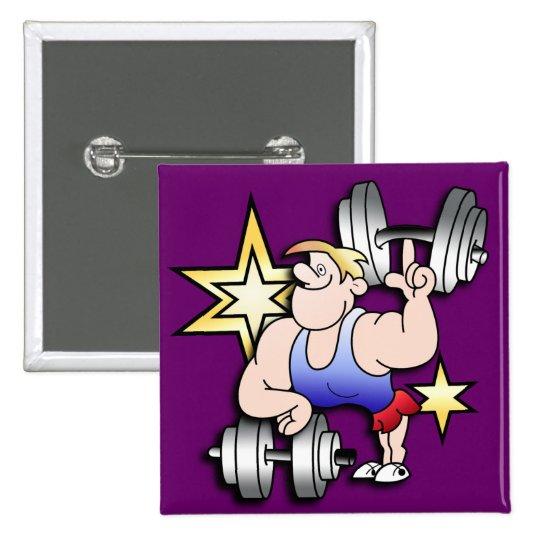 Strongman Pinback Button