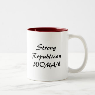 StrongRepublicanWOMAN Two-Tone Coffee Mug