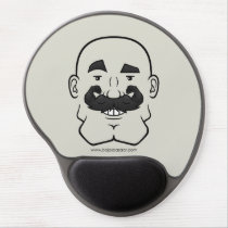 Strongstache (Bald, Black Hair) Gel Mousepad