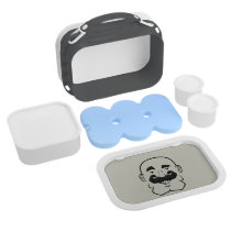 Strongstache (Bald, Black Hair) Lunch Box