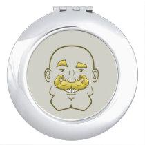 Strongstache (Bald, Blond Hair) Compact Mirror