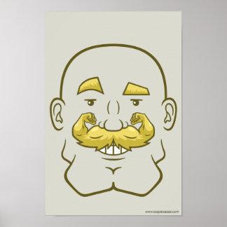 Strongstache (Bald, Blond Hair) Poster