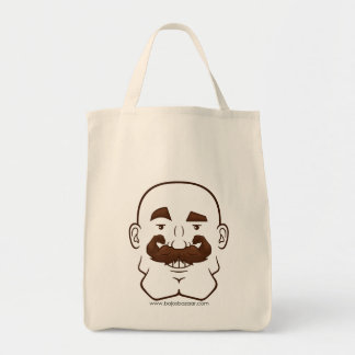 Strongstache (Bald, Brown Hair) Tote Bags