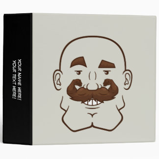 Strongstache (Bald, Brown Hair) Vinyl Binders