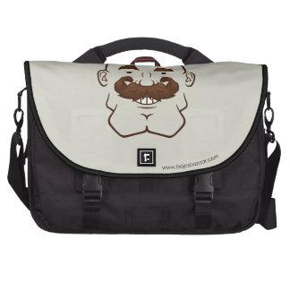 Strongstache (Bald, Brown Hair) Computer Bag
