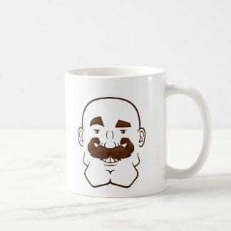 Strongstache (Bald, Brown Hair) Mugs