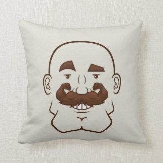 Strongstache (Bald, Brown Hair) Pillow