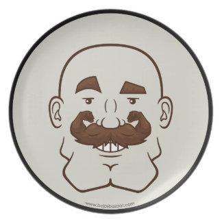 Strongstache Bald Brown Hair Plate