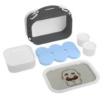 Strongstache (Bald, Brown Hair) Lunch Box