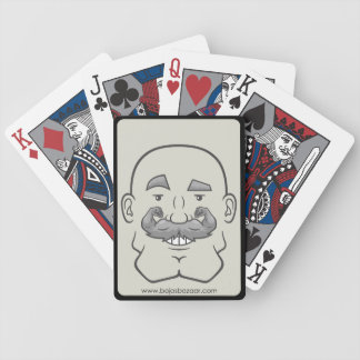 Strongstache (Bald, Gray Hair) Bicycle Playing Cards