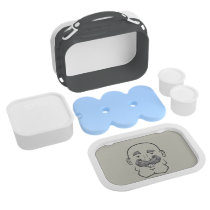 Strongstache (Bald, Gray Hair) Lunch Box
