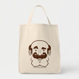 Strongstache (Balding, Brown Hair) Bag