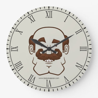 Strongstache (Balding, Brown Hair) Wall Clocks