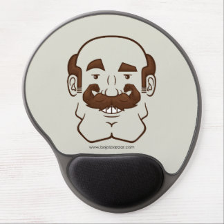 Strongstache (Balding, Brown Hair) Gel Mousepads