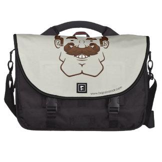 Strongstache (Balding, Brown Hair) Commuter Bags