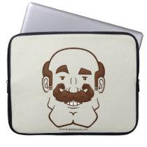 Strongstache (Balding, Brown Hair) Laptop Sleeve