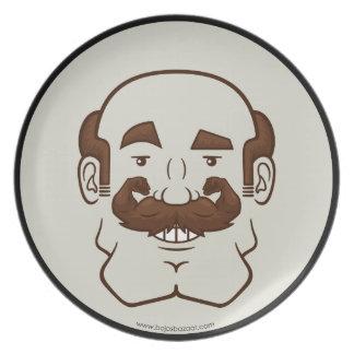 Strongstache Balding Brown Hair Plates