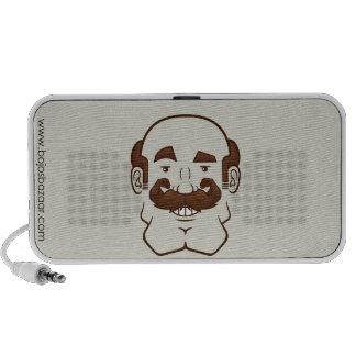 Strongstache (Balding, Brown Hair) Speaker System