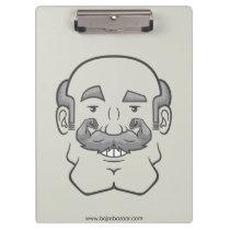 Strongstache (Balding, Gray Hair) Clipboard
