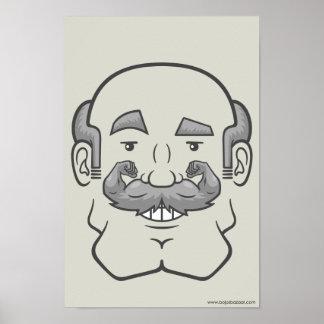 Strongstache (Balding, Gray Hair) Posters