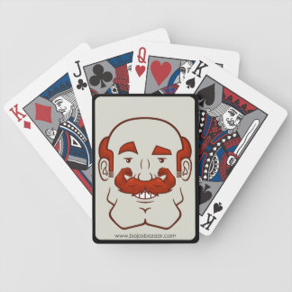 Strongstache (Balding, Red Hair) Bicycle Playing Cards