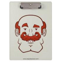 Strongstache (Balding, Red Hair) Clipboard