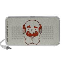 Strongstache (Balding, Red Hair) Doodle Speaker