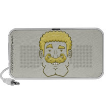 Strongstache (Curly Blond Hair) Doodle Speaker