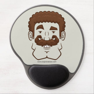 Strongstache (Curly Brown Hair) Gel Mouse Pad