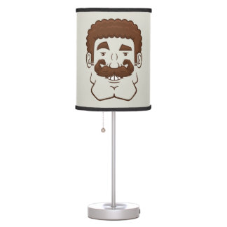 Strongstache (Curly Brown Hair) Lamps