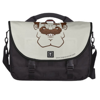 Strongstache (Curly Brown Hair) Laptop Messenger Bag