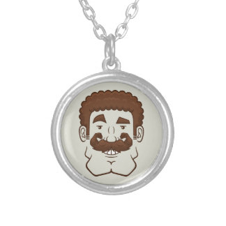 Strongstache (Curly Brown Hair) Necklaces