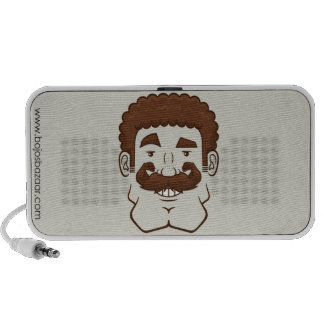 Strongstache (Curly Brown Hair) Travel Speakers