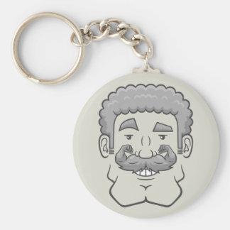 Strongstache Curly Gray Hair Key Chain