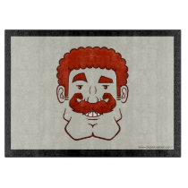 Strongstache (Curly Red Hair) Cutting Board