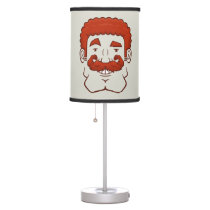 Strongstache (Curly Red Hair) Table Lamp