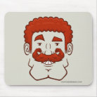 Strongstache (Curly Red Hair) Basic Mousepad