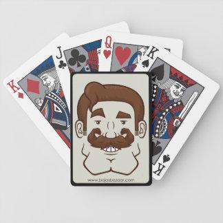 Strongstache (pelo recto de Brown) Baraja Cartas De Poker