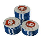 Strongstache (pelo rojo recto) fichas de póquer