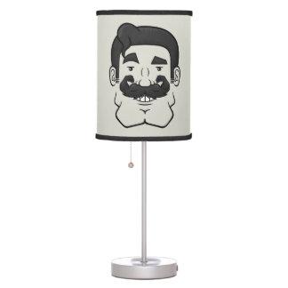 Strongstache (Straight Black Hair) Table Lamp