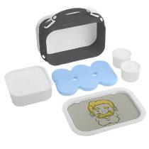 Strongstache (Straight Blond Hair) Lunch Box