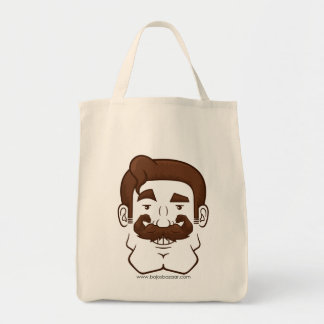 Strongstache (Straight Brown Hair) Tote Bags