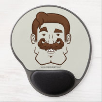 Strongstache (Straight Brown Hair) Gel Mousepad