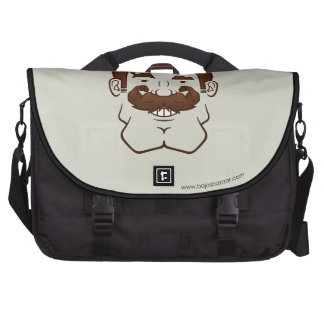Strongstache (Straight Brown Hair) Computer Bag