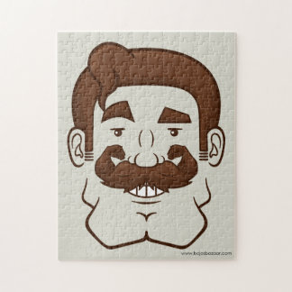 Strongstache (Straight Brown Hair) Puzzles