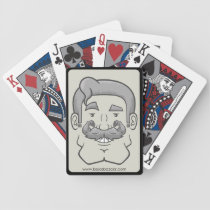 Strongstache (Straight Gray Hair) Bicycle Playing Cards