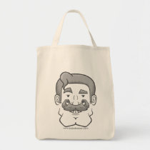 Strongstache (Straight Gray Hair) Tote Bag