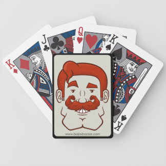 Strongstache (Straight Red Hair) Bicycle Playing Cards